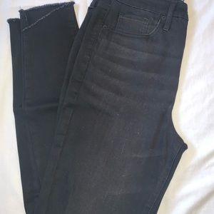 Black mild distressed jeans
